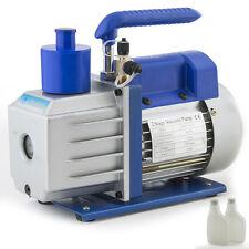 4CFM 2-Stage Pump Rotary Vane Deep Vacuum AC HVAC Refrigerant 1/3HP Dual-Stage