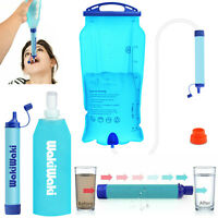 Water Filter Bag Purifier Filtration Straw Camping Hiking Emergency Survival Kit