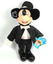 "Applause Plush 12"" Disney Dress Ups Mickey Mouse Formal Black Suit Hat with tags"