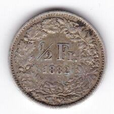 1882 B Svizzera 1/2 Franco *** Da collezione *** silver ***