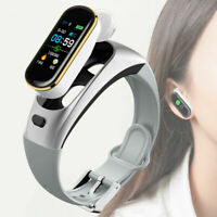 2 in 1 Smart Watch bluetooth Headset Heart Rate Monitor Fitness Tracker Bracelet