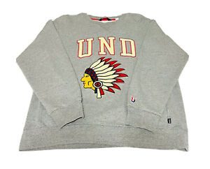 Undefeated UNDFTD Native Indian Chief Pullover Sweater Men Gray Sz Large EUC