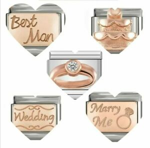 WEDDING DAY  CHARMS fits 9mm Nomination with gift pouch-RG100