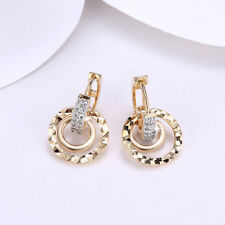 Wholesale 18K Yellow Gold Filled Clear Cubic Zirconia Circle Hoop Earrings