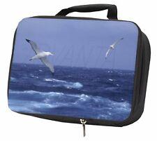 Sea Albatross Flying Free Black Insulated School Lunch Box Bag, AB-106LBB