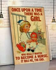 Once Upon A Time There Was A Girl Who Wanted To Become A Nurse Canvas 0.75in