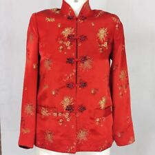 Reversible Chinese Tang Jacket Coat Red Black Women Quilted Medium Costume