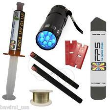 FLASHLIGHT UV + LOCA UV GLUE 5ml + OPENING TOOL GLASS REPAIR Samsung Iphone HTC