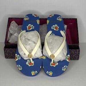 Tory Burch Womens New Ivory Palais Ditsy Printed Thin Flip-flops 56488 NEW Sz 5