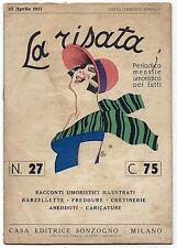 SATIRA-UMORISMO_La Risata N.27_Ed. Sonzogno, 1927_Copertina ill. da Bisi* vedi>