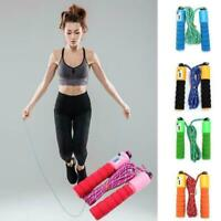 2.5m Jump Rope Cotton Sponge Count Rope Lose Weight Fitness Home Sport Z5S0