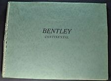 1960-1961 Bentley S2 Continental Prestige Brochure Flying Spur Excellent Orig