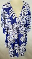 Always for Me Cover Womens Size 1X Swimsuit Beach Cover Up White Purple