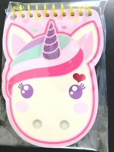 """CUTE Pink """"UNICORN"""" Note Pad with """"Sparkle Dream Believe"""" on White pages(S6=C)"""