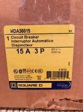 Square D Hda36015 3 Pole 15 Amp Circuit Breaker New In Box