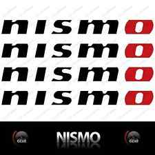 "(4) NISMO Die Cut Decal Stickers BLACK and RED Large 12"" INCH"