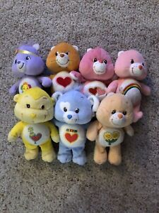 Lot Of 7 Care Bears And Carebear Cousins