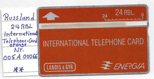 Telefonkarte- Russland- International Telephone Card - orange - Landis & Gyr