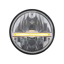 "5 3/4"" LED High/Low Glass Headlight Headlamp with Amber LED Position Light Bar"