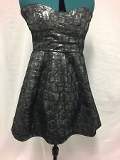 Minkpink strapless  Black and silver dress size 12