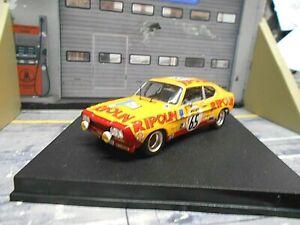 FORD Capri 2600 RS Racing Tour Auto Rallye Racing Larrousse 1972 Trofeu 1:43