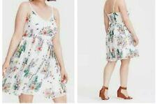 23002811d3ab Torrid White Floral Crochet Chiffon Mini Dress 4x 26  42783
