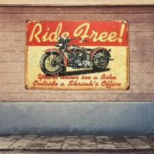 Vintage Poster Métal Plaque de Rétro Publilcité de Moto Décor Mural
