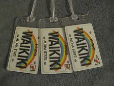 Waikiki Luggage Tags - RePurposed Hawaii Aloha Playing Card Name Bag Tag Set (3)