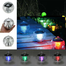 Outdoor Solar LED Floating Lights Garden Pond Pool Lamp Rotating Color Changed