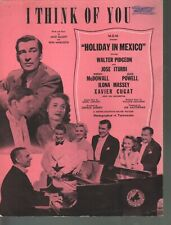 I Think of You 1941 Holiday in Mexico Sheet Music