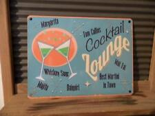 FABULOUS VINTAGE RETRO STYLE METAL WALL SIGN PLAQUE *COCKTAIL LOUNGE*