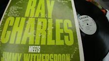 RAY CHARLES MEETS JIMMY WITHERSPOON VINYL LP vinyl Crown  (1963)