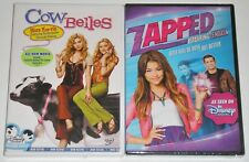 Disney Channel DVD Lot - Cow Belles (New) Zapped (New)