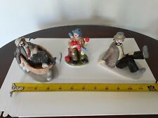 Flambro Emmett Kelly Jr Collection clown figures (3)