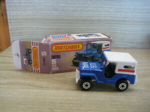 MATCHBOX  SUPERFAST(1969-83)  MB5C US MAIL TRUCK  Blue with White Roof