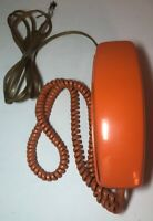 VINTAGE ORANGE ROTARY DIAL GTE TRIMLINE PHONE WALL DESK AUTOMATIC ELECTRIC 1976
