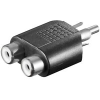 Y Video Chinch Cinc Cynch RCA Adapter 2x Cinch Buchse Kupplung auf 1x Stecker