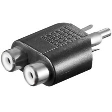 Y Video Chinch Cinc Cynch RCA Adapter 2x Cinch Buchse Kupplung auf 1x Stecker