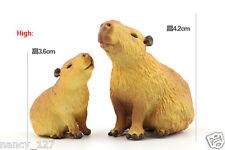 Rement Original Wild Animal Capybara Model Collectible Figurine Figure kids Toy