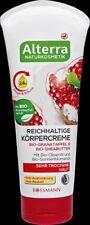 Alterra BIO Pomegranate & Shea Butter Olive Oil Sunflower Body Cream VEGAN 200ml