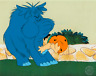 HANNA BARBERA FRED FLINTSTONE ORIGINAL HAND-PAINTED PRODUCTION ANIMATION CEL