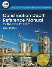 Construction Depth Reference Manual for the Civil Pe Exam PASS TEST USA Seller
