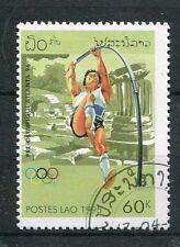 LAOS, 1995, timbre 1173, SPORT, JEUX OLYMPIQUES, Saut à la perche, oblitéré
