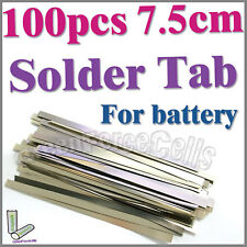 100 pcs 7.5cm Solder Tab For Sub C AA AAA 14500 18650 Battery Cell