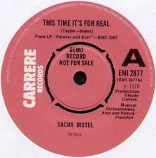 """SACHA DISTEL ~ THIS TIME IT'S FOR REAL / PLAY IT GOOD ~ 1978 UK """"DEMO"""" 7"""" SINGLE"""