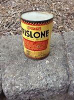 "Vintage Shaler Rislone ""Oil Alloy"" Treatment 1 Imperial Quart Oil Can Full Tin"