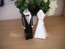 50 Kate Aspen Wedding Bomboniere White Bride Dress Black Groom Tux Favor Box