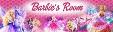 """Personalized Pink Barbie Name Banner Poster (8.5x30"""") High Glossy Photo Paper"""