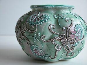 Dow Sie Co Nippon NPSK Moriage Rose Bowl Vase