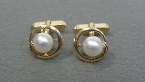 Mikimoto 14k 8mm Pearl Cufflinks
